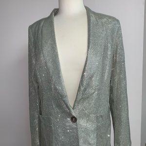 Silver glitter blazer